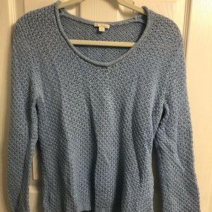Blue crew neck sweater, size medium